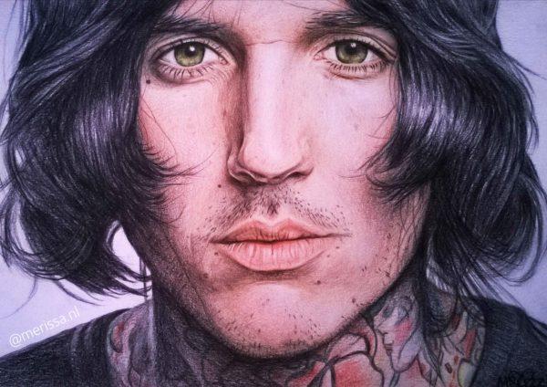 Oliver Sykes drawing by Merissa de Werker